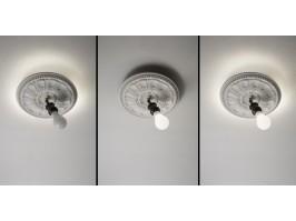 Sieninis/lubinis šviestuvas IDEA STUCCO