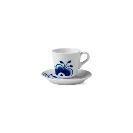 Puodelis su lėkštute Blue Fluted Mega