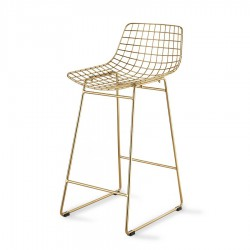 Baro kėdė WIRE Brass