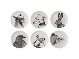 Porcelianinių lėkščių rinkinys ANIMALS