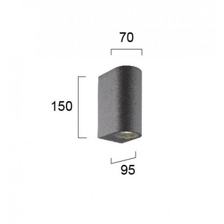 Sieninis lauko šviestuvas TILOS 150 round