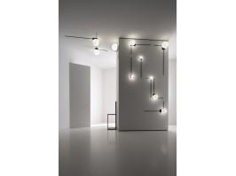 Sieninis/lubinis šviestuvas FRAMMENTI Black