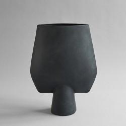 Vaza Sphere SQUARE BLACK hexa