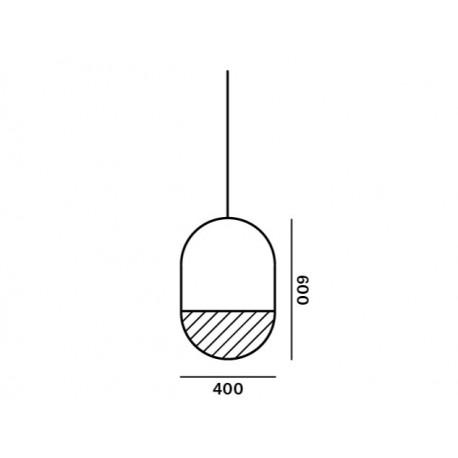Pakabinamas šviestuvas GEOMETRIC OVAL