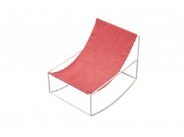 Kėdė ROCKING CHAIR WHITE_RED