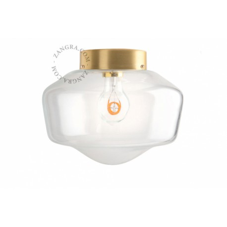 Lubinis šviestuvas GLASS & BRASS