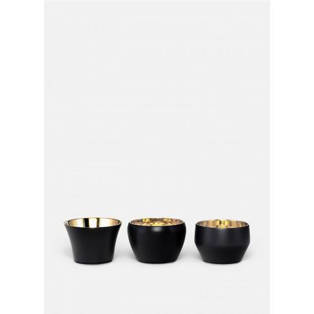 3 žvakidžių komplektas BLACK 3