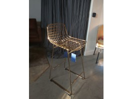 Baro kėdė WIRE Brass SALE