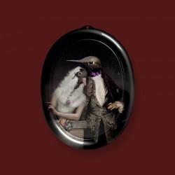 Padėklas-paveikslas The lovebirds