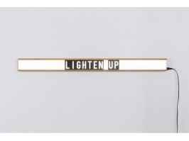 Sieninis šviestuvas su keičiamomis raidėmis