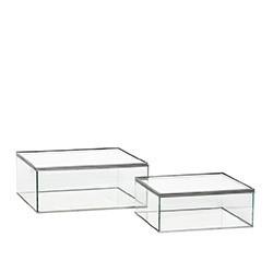 Stiklinių dėžučių komplektas