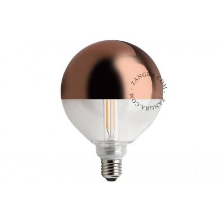LED LEMPUČIŲ MIRROR CROWN COPPER 120 MM KOMPLEKTAS